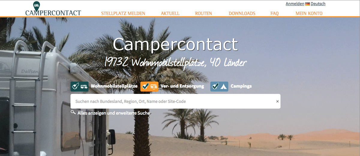 Screenshot Campercontact