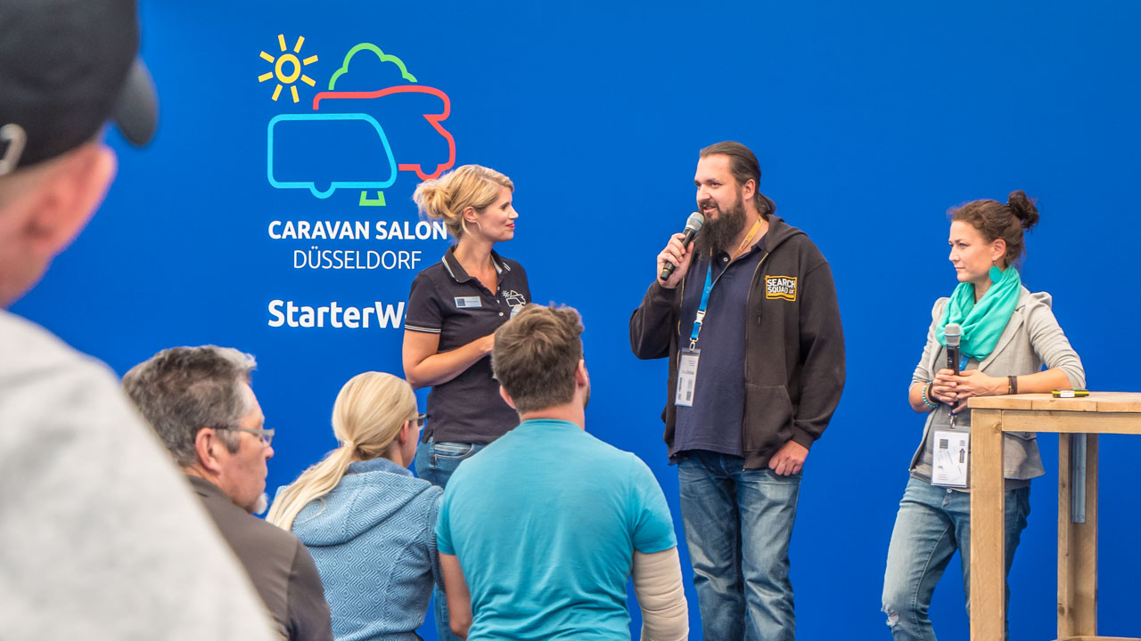 Caravan Salon Highlights - Sebastian und Nele in der Starterwelt