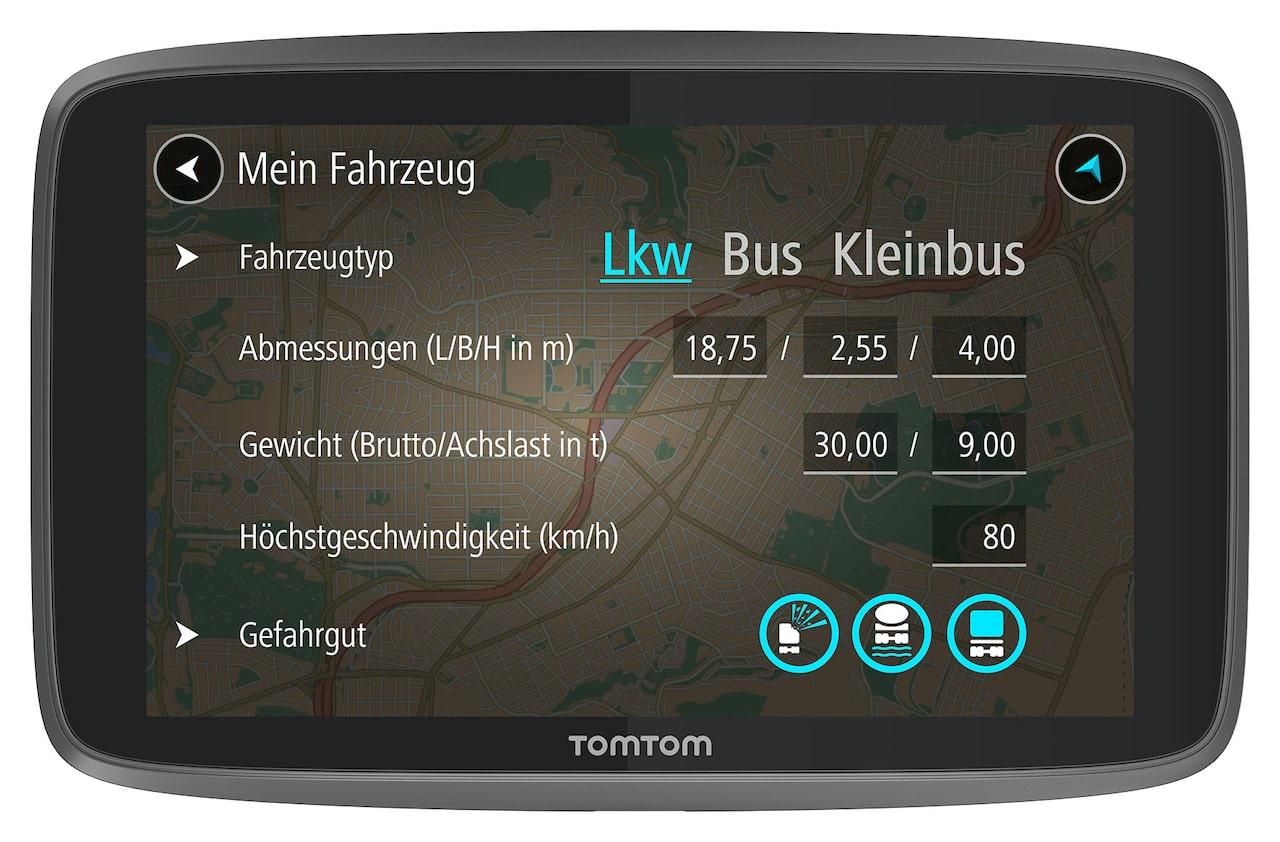 Navigation für Wohnmobile und Wohnwagen